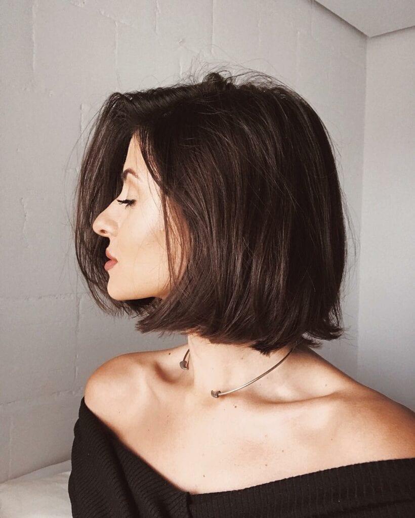 cabelo curto liso