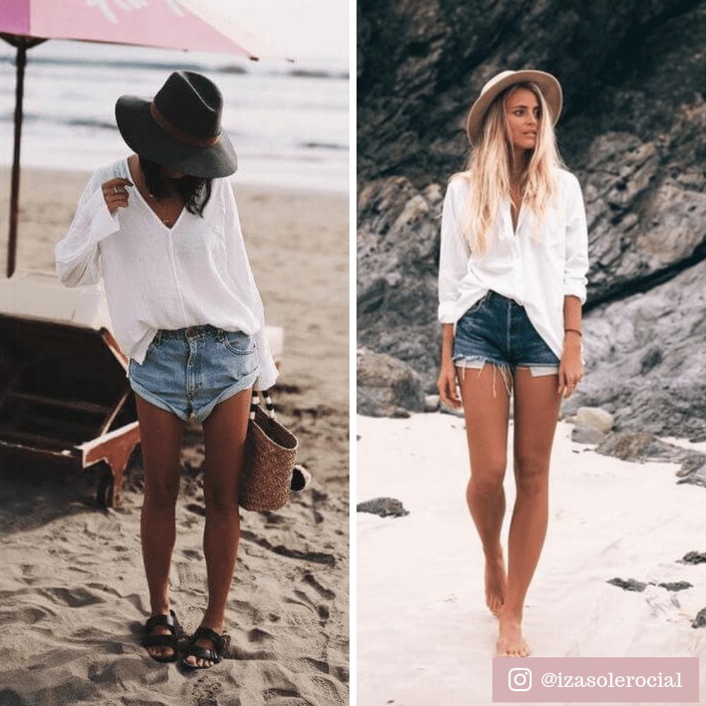 Camisa Branca na praia