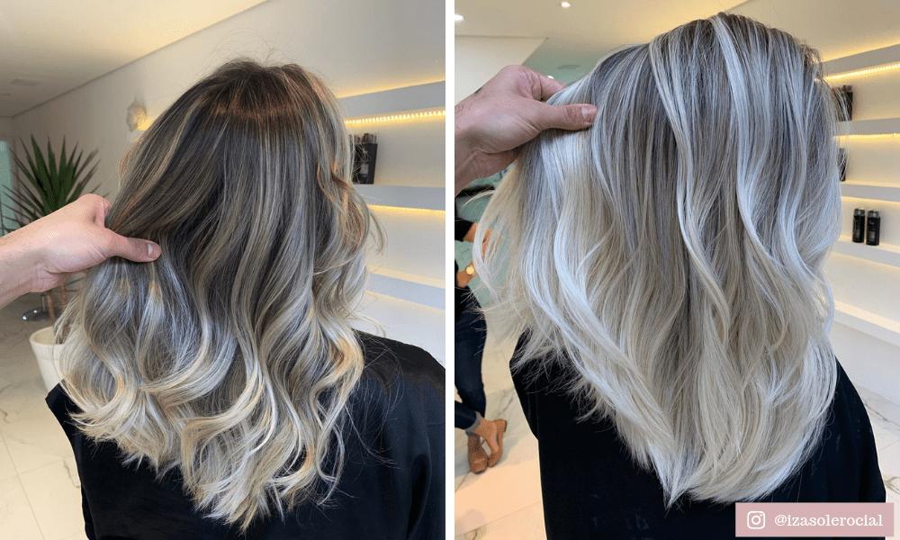 ombre hair platinado