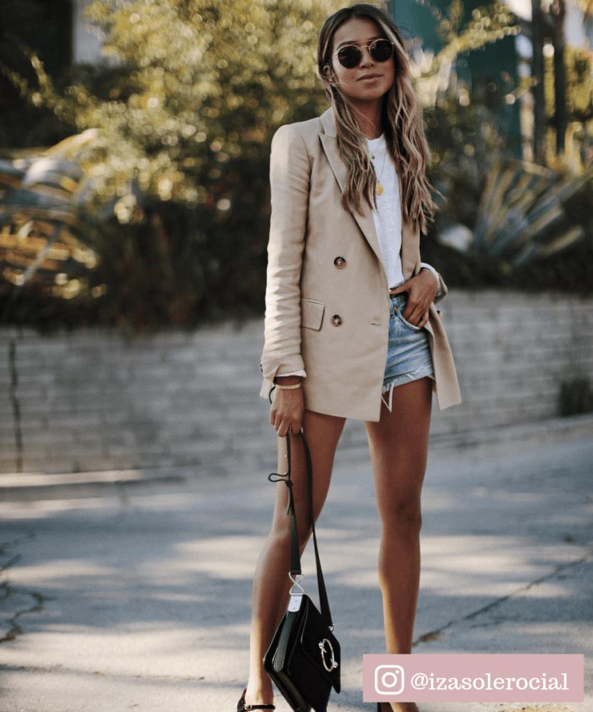 conjunto de blazer com short