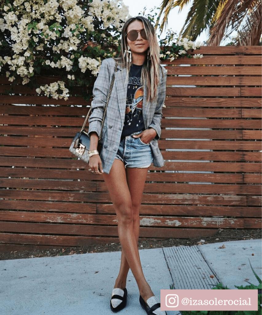 short com blazer