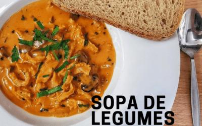 Receita de Sopa de Legumes com Frango Low Carb